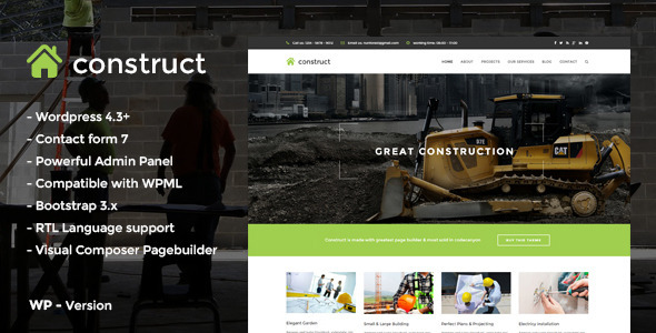 construct - construction WordPress themes