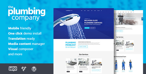 plumping - construction WordPress themes