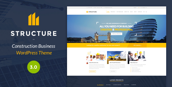 structure - construction WordPress themes