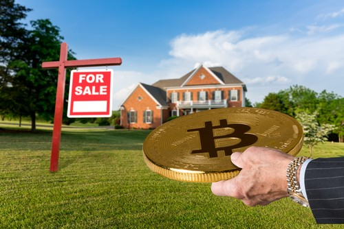 Cryptocurrency in exchange for a house