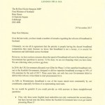 Scottish tory Letter: Broadband