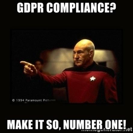 Captain Piccard GDPR meme