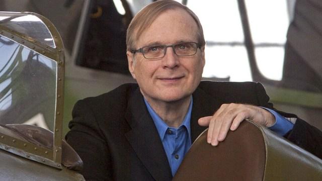 Paul Allen co-founder of Microsoft sitting in a plane
