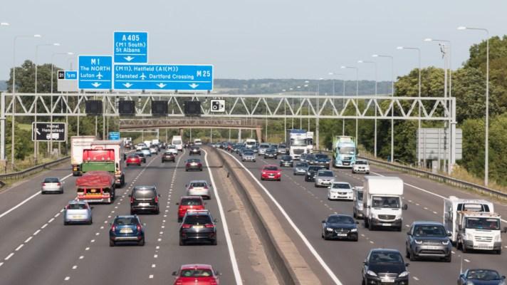 UK traffic on motorway
