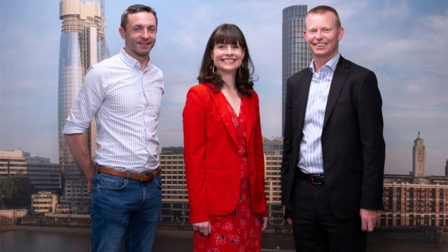 L to R Steven Hamill COO Scottish EDGE - Evelyn McDonald CEO Scottish EDGE - Paul Gallagher EY and GlobalScot