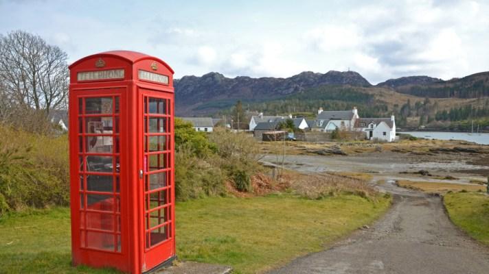 phone box in Scotland