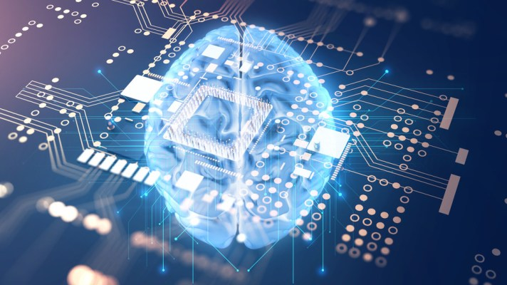 brain over a computer chip to show Artificial Intelligence