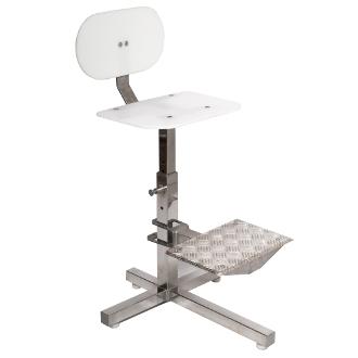 Cadeira alta em inox com apoio para os pés WS-930