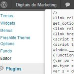Editor do template do Wordpress