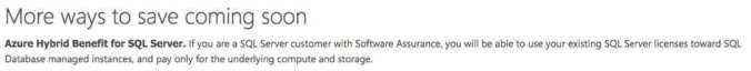 Ausblick: Microsoft Hybrid Use Benefit für SQL Server