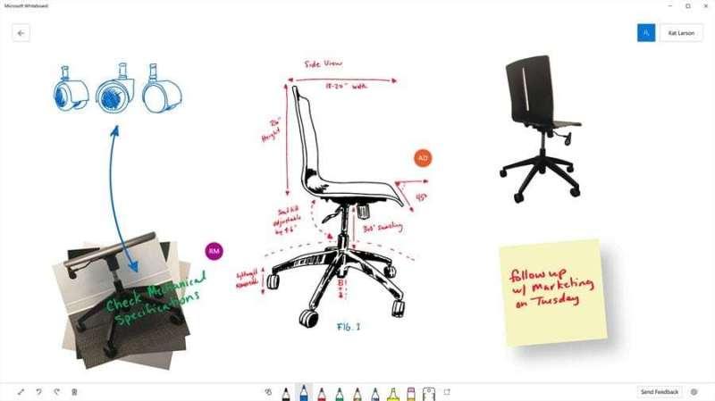 beispiel für die Nutzung der Microsoft Whiteboard App an einem konkreten Beispiel