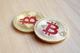 赤いビットコイン
