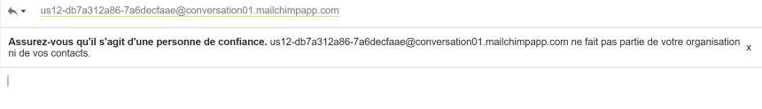 Gmail au profit de la productivité individuelle - contact inconnu