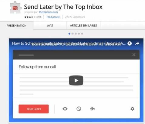 Gmail au profit de notre productivité individuelle - Send Later