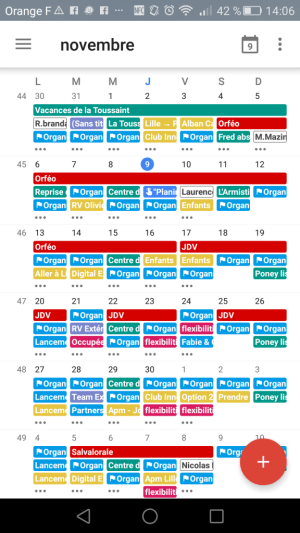 Google agenda sur mobile