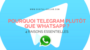 Pourquoi telegram plutôt que whatsapp _