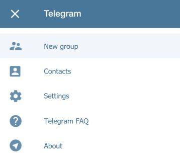Telegram nouveau groupe