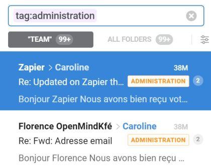 Front Apps : Barre de recherche + tags