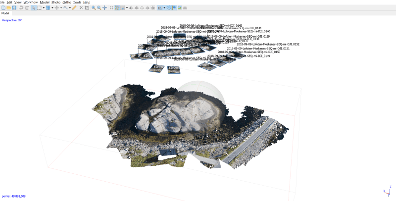 2018-12-02 13_25_07-SEQ-25_Lofoten_Rock.psx — Agisoft PhotoScan Professional (28 days left)cut