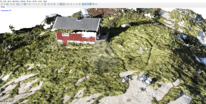 """""""Rock with a House"""" on Lofoten Islands 
