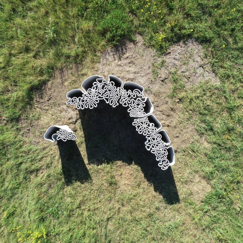 """Liquid Rock"" | 3d Concrete Printing Work of the Institute of Experimental Architecture | Prof. Marjan Colletti | Georg Grasser: Exhibition am Wachtberg, Austria 2018 | Drone Flight & Foto: Marc Ihle"