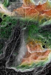 The Arctic Race Track | Storheia & Husbydalen på Hadseløya | Landscape Model with Terrain Information | 2019