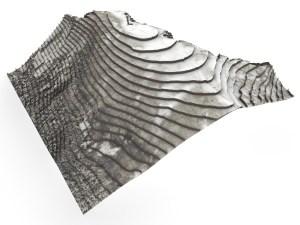 Storheia Hadsel | Landscape Model for Laser-Cut-Fabrication | 2019