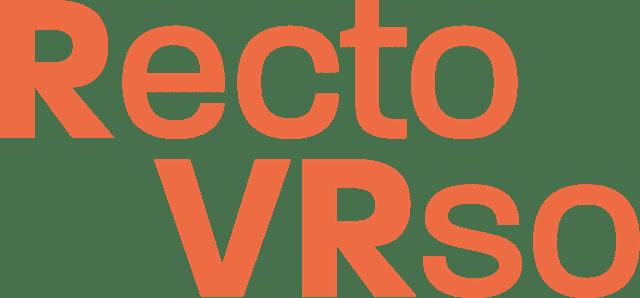 Logo du festival d'art numérique Recto_VRso Laval Virtual
