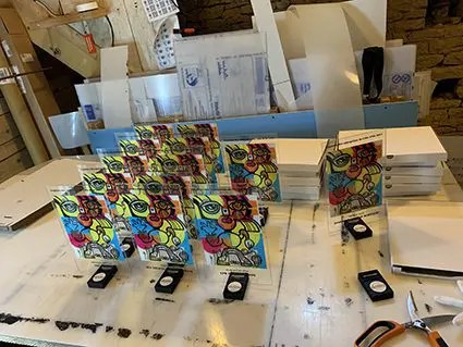Série de Trophée Personnalisé anaystof my art box digital mural par aNa artiste