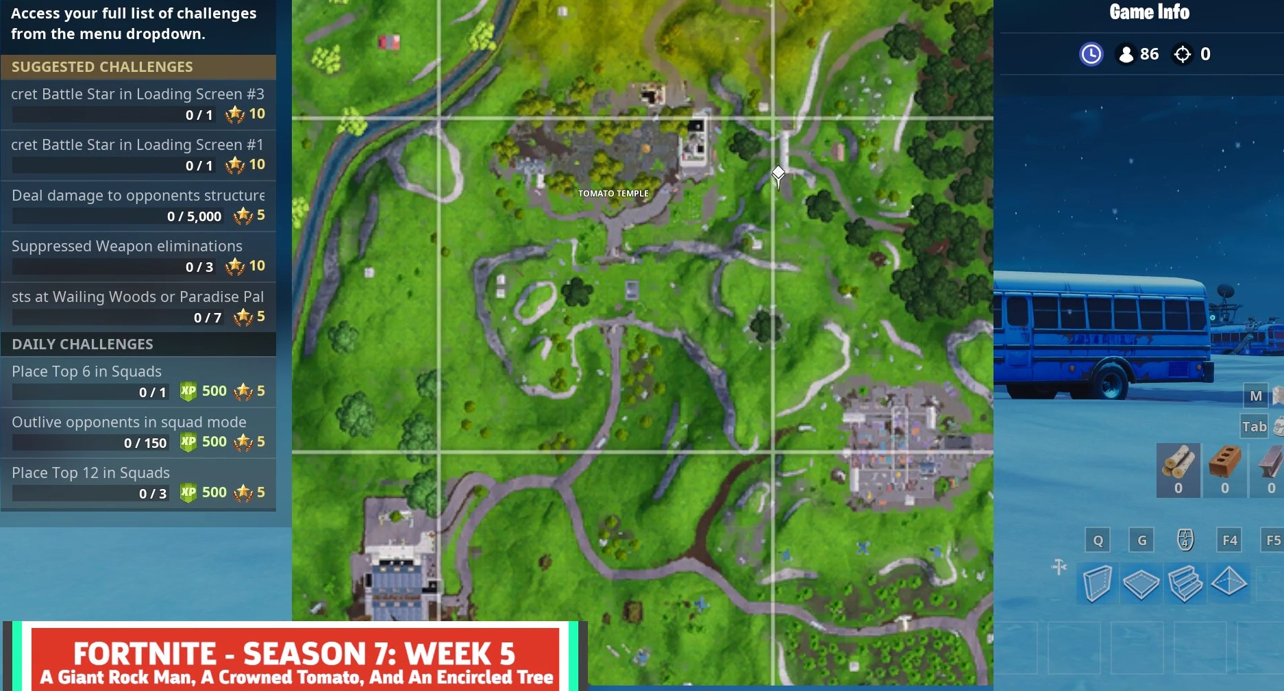 'Fortnite' Week 5 Secret Battle Star Location & Snowfall Loading Screen
