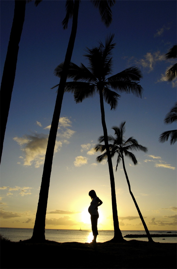 Silhouette Maternity Photography