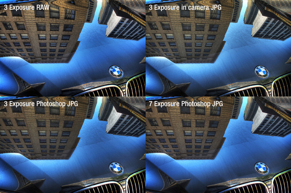 Final comparison between RAW, JPG, 3 exposure & 7 exposure HDR