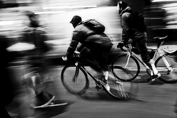 motion in photography biker moving fast