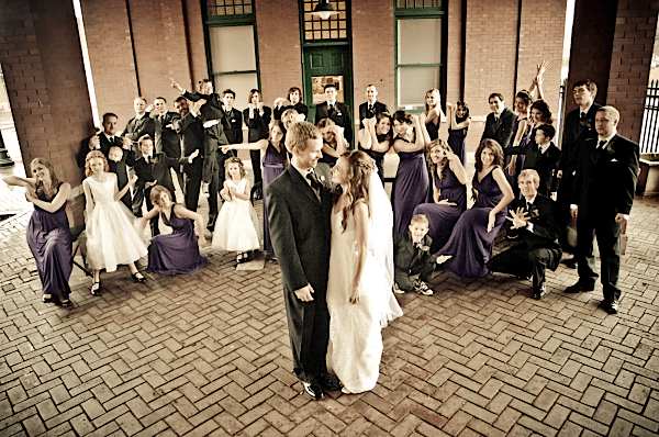 How to Photograph a Wedding Party of 34