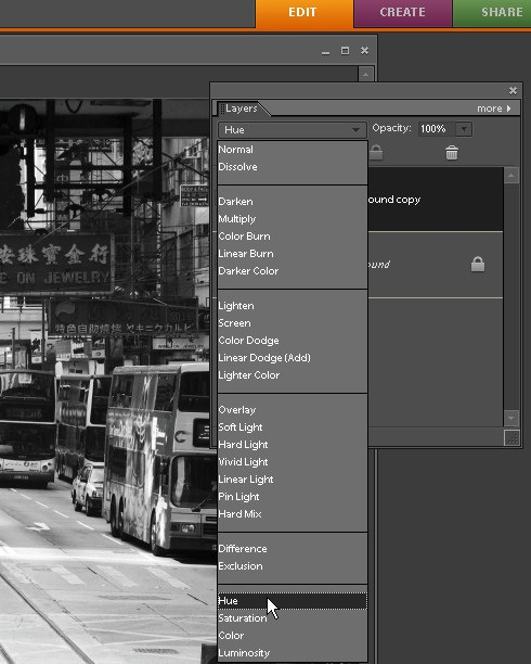 An Adjustable Black and White Conversion in Photoshop Elements