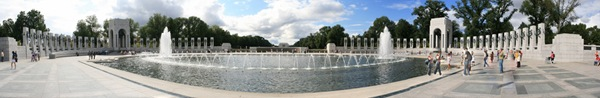 World War II Memorial, Washington DC Panorama