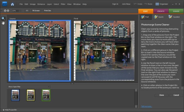 Clean up a Scene in Photoshop Elements in 6 Easy Steps