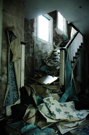 mayhem in the stairwell by Irina Souiki