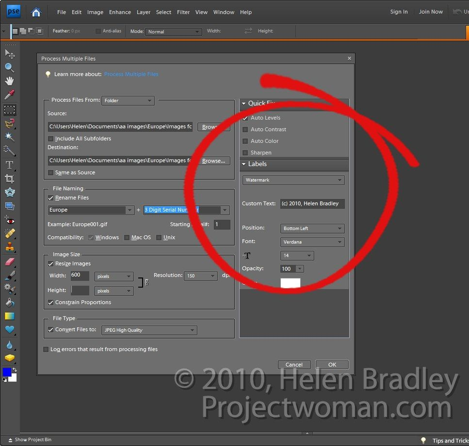 How to make a watermark in photoshop elements 15