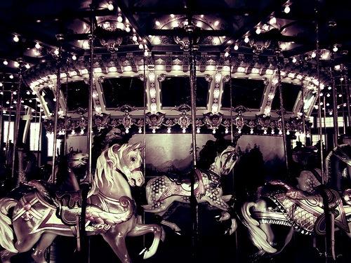 Carousel Horses by Chris Folsom