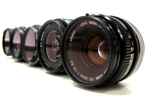 Line-up of Lenses - by canonsnapper