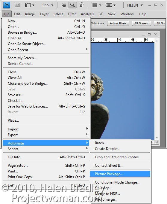 Multiple Image Printing In Photoshop Cs4