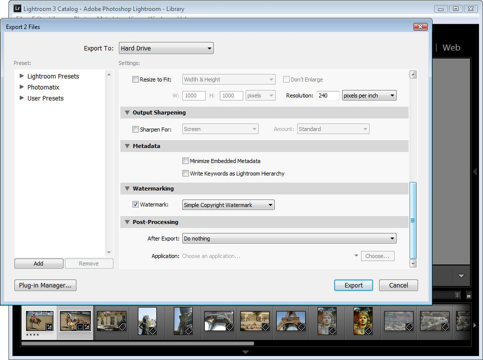 How To Copyright Watermark Your Images In Lightroom 3