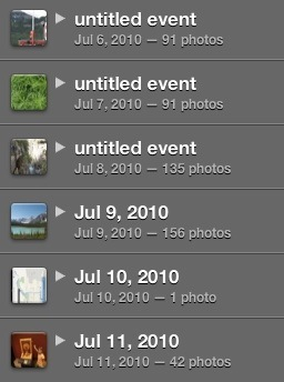 iPhoto folders