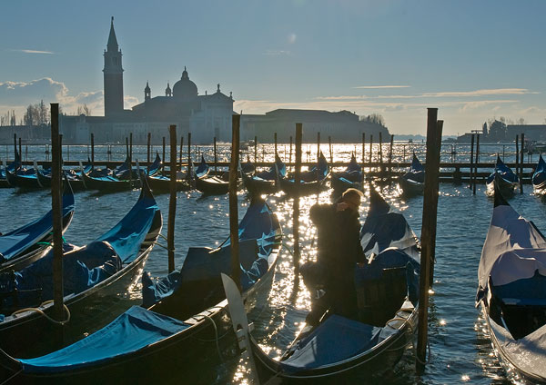 Image: Gondolas near St Mark's Square, Venice. Visit the Tourist Office, it's just to the right of t...