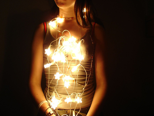String Lights Portrait : 23 Christmas Lights Photos - With a Twist