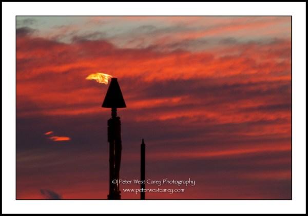 Image: Torches At Sunset - Hawaii, USA
