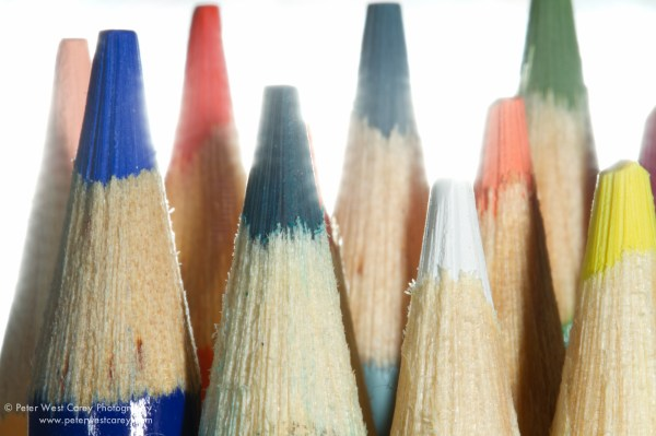 Image: Flash C held directly behind pencils, firiing into lens at +2 exp. adjustment