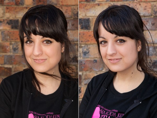 Image: When the differences are corrected, the results of the DIY Ring Flash (right) compare very we...