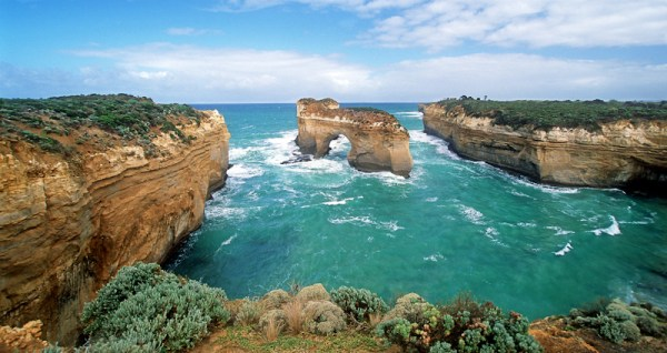 Image: Loch Ard Gorge 2002 – Shot before the Island Archway collapsed in 2009.